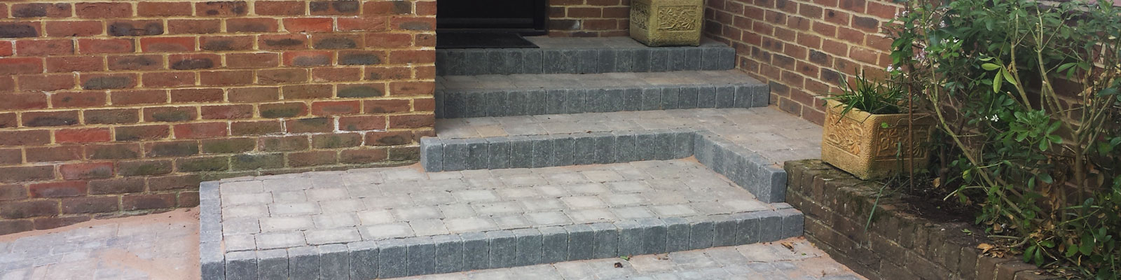 Paved Patio and Staircase